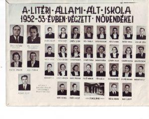 1953-ban végzett tanulók és tanáraik