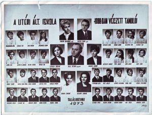 1968-ban végzett tanulók és tanáraik