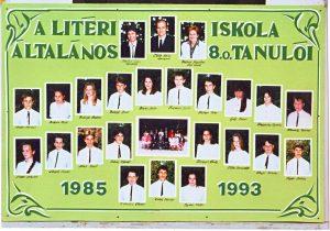 1993-ban végzett tanulók és tanáraik