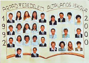 2000-ben végzett tanulók és tanáraik