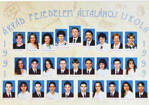1999-ben végzett tanulók és tanáraik